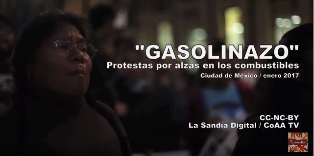 "Captura de pantalla del video ""Gasolinazo""."