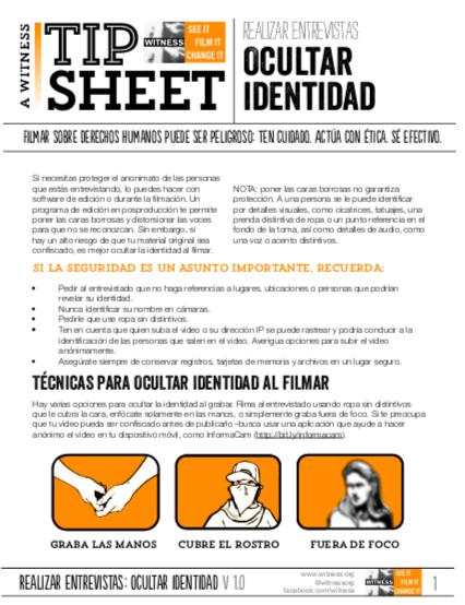 Realizar entrevistas con identidad protegida